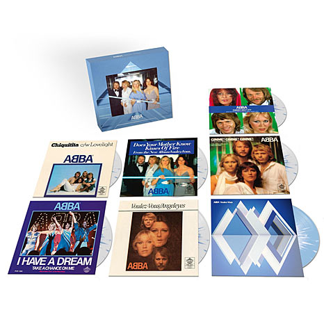 ABBA / Voulez-Vous: The Singles / Limited edition seven-inch coloured vinyl box