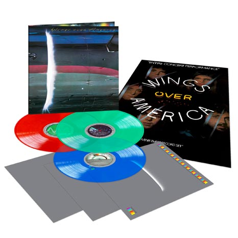 Paul McCartney / Wings Over America limited edition coloured vinyl