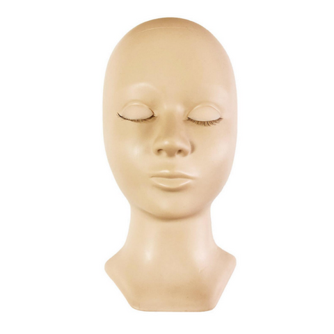 Eyelash Training Mannequin Head (With Realistic Removable Eyelids)