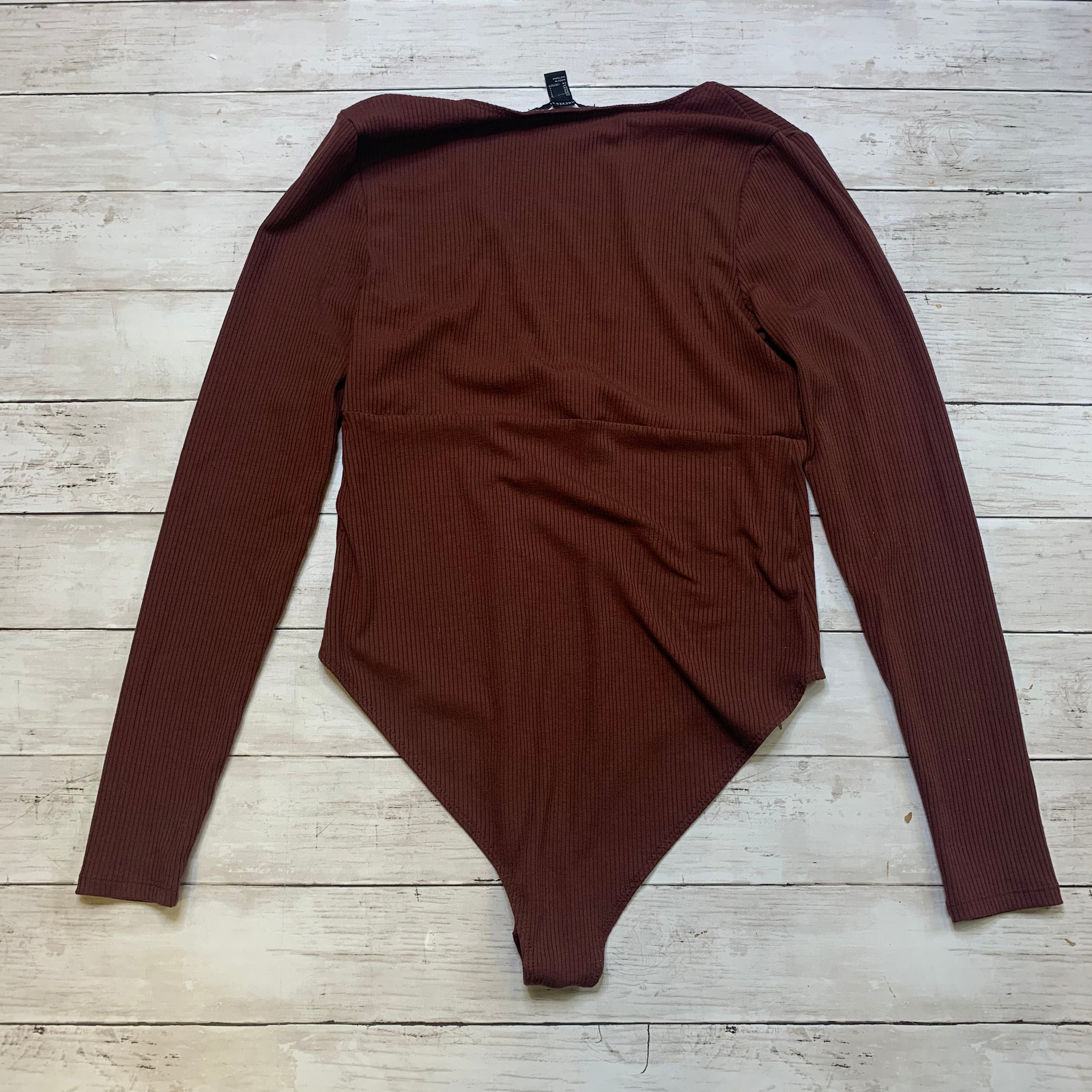 Photo #1 - BRAND: FOREVER 21 <BR>STYLE: TOP LONG SLEEVE <BR>COLOR: BROWN <BR>SIZE: L <BR>SKU: 176-176121-24986