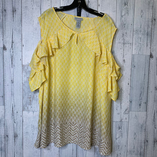 Primary Photo - BRAND: CATHERINES STYLE: TOP SHORT SLEEVE COLOR: YELLOW SIZE: 4X SKU: 176-176121-26164