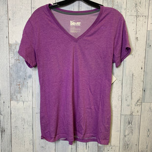 Primary Photo - BRAND: NIKE APPAREL STYLE: ATHLETIC TOP SHORT SLEEVE COLOR: PURPLE SIZE: L SKU: 176-176124-25141