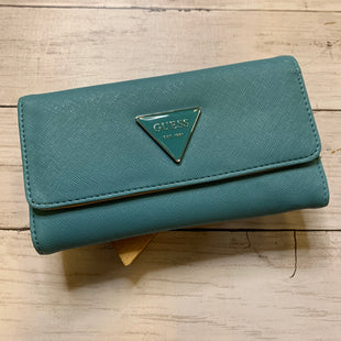 Primary Photo - BRAND: GUESS STYLE: WALLET COLOR: BABY BLUE SIZE: SMALL SKU: 176-17684-47479