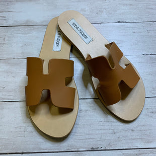 Primary Photo - BRAND: STEVE MADDEN STYLE: SANDALS FLAT COLOR: BROWN SIZE: 9 SKU: 176-176114-38301