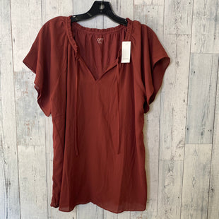 Primary Photo - BRAND: ANN TAYLOR LOFT O STYLE: TOP SHORT SLEEVE COLOR: MAROON SIZE: L SKU: 176-176124-24661