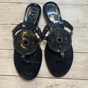 Primary Photo - BRAND: JACK ROGERS STYLE: SANDALS FLAT COLOR: BLACK SIZE: 9 SKU: 176-17684-47746