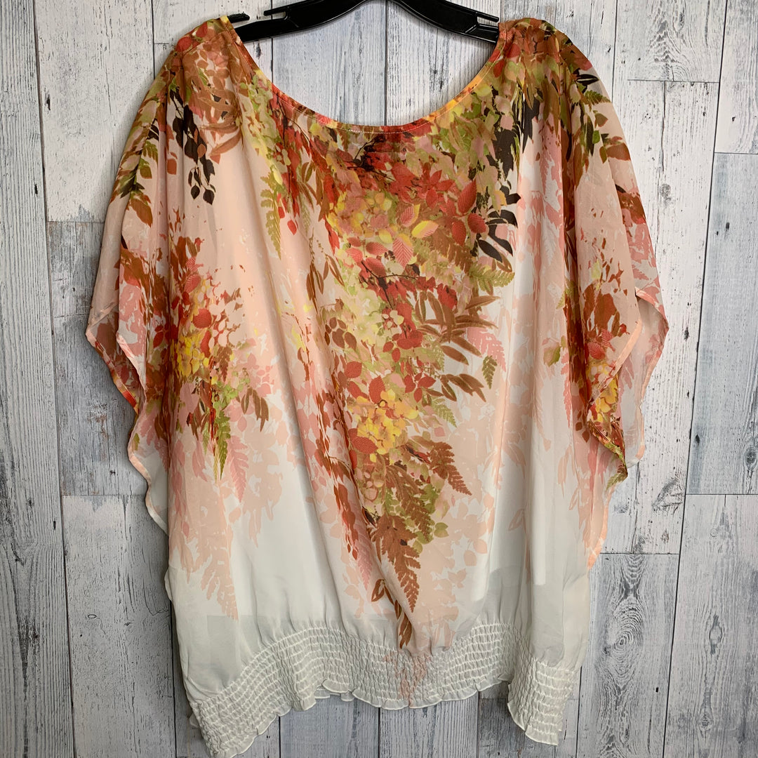 Photo #1 - BRAND: IN STUDIO <BR>STYLE: TOP SHORT SLEEVE <BR>COLOR: FLORAL <BR>SIZE: 2X <BR>SKU: 176-17641-38361