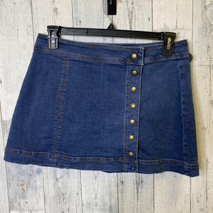 Primary Photo - BRAND: FREE PEOPLE STYLE: SKIRT COLOR: DENIM SIZE: 10 SKU: 176-176121-25122