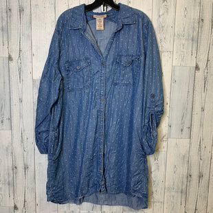 Primary Photo - BRAND: PHILOSOPHY STYLE: DRESS SHORT LONG SLEEVE COLOR: DENIM SIZE: 1X SKU: 176-176134-3742