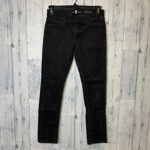 Primary Photo - BRAND: 7 FOR ALL MANKIND STYLE: JEANS DESIGNER COLOR: BLACK SIZE: 4 SKU: 176-17684-45860