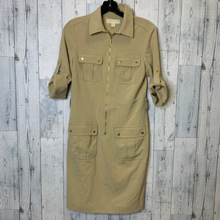 Primary Photo - BRAND: MICHAEL BY MICHAEL KORS STYLE: DRESS SHORT SHORT SLEEVE COLOR: BEIGE SIZE: S SKU: 176-176150-5090