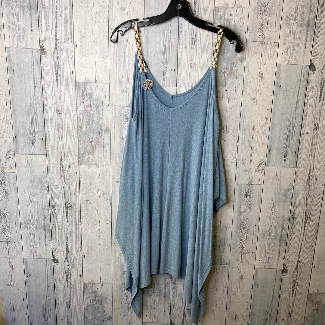 Primary Photo - BRAND: EASEL <BR>STYLE: TOP SLEEVELESS <BR>COLOR: BLUE <BR>SIZE: L <BR>SKU: 176-176114-34618