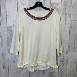 Primary Photo - BRAND: CROWN AND IVY STYLE: TOP SHORT SLEEVE COLOR: CREAM SIZE: PETITE   SMALL SKU: 176-17684-46193