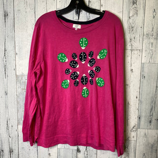 Primary Photo - BRAND: CROWN AND IVY STYLE: TOP LONG SLEEVE COLOR: HOT PINK SIZE: 2X SKU: 176-176114-35320