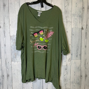Primary Photo - BRAND: CATHERINES STYLE: TOP SHORT SLEEVE BASIC COLOR: OLIVE SIZE: 4X SKU: 176-176121-26165