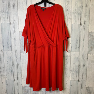 Primary Photo - BRAND: LANE BRYANT STYLE: DRESS SHORT SHORT SLEEVE COLOR: RED SIZE: 26/28 SKU: 176-176124-25381