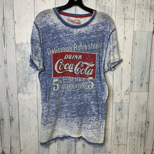 Primary Photo - BRAND:    CLOTHES MENTOR STYLE: TOP SHORT SLEEVE COLOR: BLUE SIZE: 1X OTHER INFO: COCA COLA - SKU: 176-176140-2471