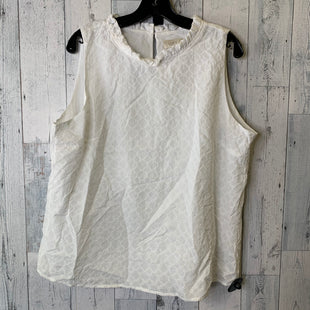 Primary Photo - BRAND: ANN TAYLOR LOFT O STYLE: TOP SLEEVELESS COLOR: WHITE SIZE: XL SKU: 176-176140-3214