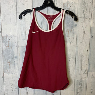 Primary Photo - BRAND: NIKE APPAREL STYLE: ATHLETIC TANK TOP COLOR: MAROON SIZE: S SKU: 176-176124-24216