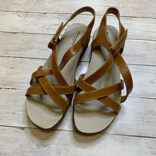 Primary Photo - BRAND: CLOUDWALKERS STYLE: SANDALS FLAT COLOR: BROWN SIZE: 12 SKU: 176-176122-21325