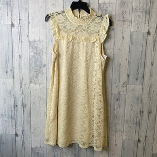 Primary Photo - BRAND: ELLISON STYLE: DRESS SHORT SLEEVELESS COLOR: CREAM SIZE: L SKU: 176-17684-47119