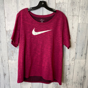 Primary Photo - BRAND: NIKE APPAREL STYLE: ATHLETIC TOP SHORT SLEEVE COLOR: MAGENTA SIZE: 1X SKU: 176-176122-16918