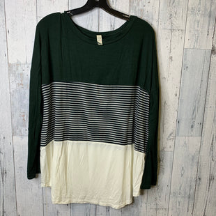 Primary Photo - BRAND: FLAMINGO URBAN STYLE: TOP LONG SLEEVE COLOR: GREEN SIZE: 2X SKU: 176-176124-22813