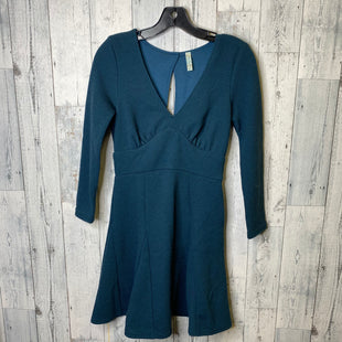 Primary Photo - BRAND: FREE PEOPLE STYLE: DRESS SHORT LONG SLEEVE COLOR: TEAL SIZE: S SKU: 176-176134-4102