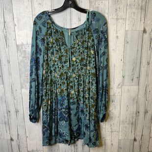 Primary Photo - BRAND: FREE PEOPLE STYLE: DRESS SHORT LONG SLEEVE COLOR: TEAL SIZE: S SKU: 176-17684-46612
