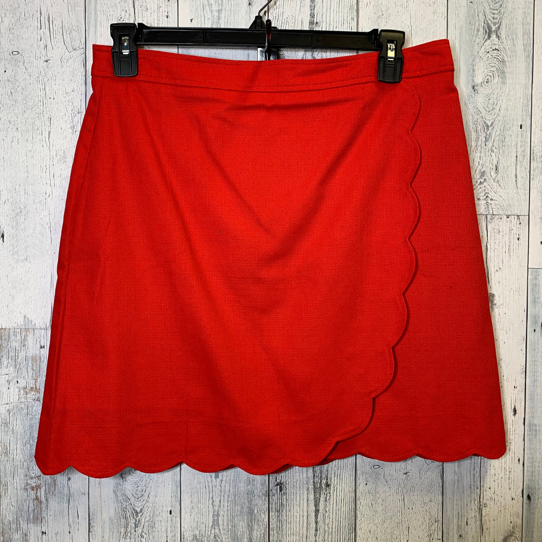 Primary Photo - BRAND: J CREW <BR>STYLE: SKIRT <BR>COLOR: RED <BR>SIZE: 12 <BR>SKU: 176-176114-36316