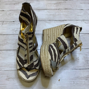 Primary Photo - BRAND: MICHAEL BY MICHAEL KORS STYLE: SANDALS HIGH COLOR: ZEBRA PRINT SIZE: 10 SKU: 176-176150-1281