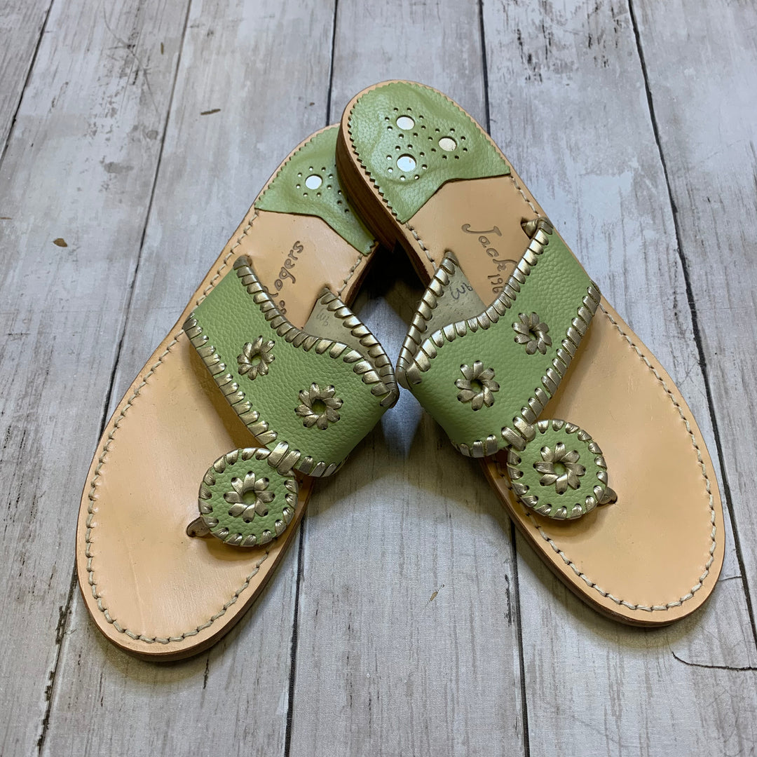 Primary Photo - BRAND: JACK ROGERS <BR>STYLE: SANDALS FLAT <BR>COLOR: MINT <BR>SIZE: 9 <BR>SKU: 176-176121-24234