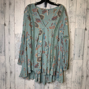 Primary Photo - BRAND: FREE PEOPLE STYLE: DRESS SHORT LONG SLEEVE COLOR: TURQUOISE SIZE: M SKU: 176-176121-25961