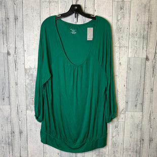 Primary Photo - BRAND: LANE BRYANT STYLE: TOP LONG SLEEVE COLOR: GREEN SIZE: 2X SKU: 176-17684-45156