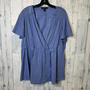 Primary Photo - BRAND: LANE BRYANT STYLE: TOP SHORT SLEEVE COLOR: BLUE SIZE: 18 SKU: 176-176134-4164