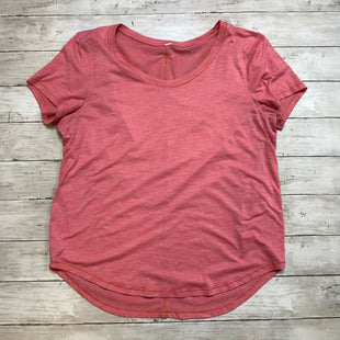 Primary Photo - BRAND: LULULEMON STYLE: ATHLETIC TOP SHORT SLEEVE COLOR: PINK SIZE: M SKU: 176-176114-36787