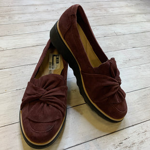 Primary Photo - BRAND: CLARKS STYLE: SHOES FLATS COLOR: BURGUNDY SIZE: 9.5 SKU: 176-176121-22640