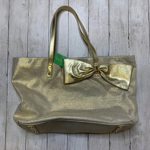 Primary Photo - BRAND: LILLY PULITZER STYLE: HANDBAG COLOR: GOLD SIZE: LARGE SKU: 176-176124-23437