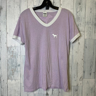 Primary Photo - BRAND: PINK STYLE: TOP SHORT SLEEVE BASIC COLOR: PURPLE SIZE: L OTHER INFO: AS ISSKU: 176-176124-24519