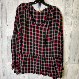 Primary Photo - BRAND: LOFT STYLE: TOP LONG SLEEVE COLOR: RED BLACK SIZE: 2X SKU: 176-176114-35319