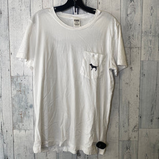Primary Photo - BRAND: PINK STYLE: TOP SHORT SLEEVE BASIC COLOR: WHITE SIZE: M SKU: 176-17684-47017