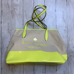 Primary Photo - BRAND: KATE SPADE STYLE: HANDBAG DESIGNER COLOR: YELLOW SIZE: LARGE SKU: 176-176124-20319