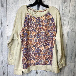 Primary Photo - BRAND: LUCKY BRAND STYLE: TOP LONG SLEEVE COLOR: CREAM SIZE: 2X SKU: 176-176114-35324