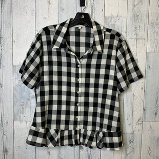 Primary Photo - BRAND: MADEWELL STYLE: TOP SHORT SLEEVE COLOR: BLACK WHITE SIZE: L SKU: 176-17684-47042