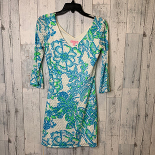 Primary Photo - BRAND: LILLY PULITZER STYLE: DRESS SHORT LONG SLEEVE COLOR: BLUE GREEN SIZE: XS SKU: 176-176114-36848