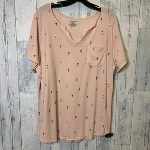Primary Photo - BRAND: LANE BRYANT STYLE: TOP SHORT SLEEVE COLOR: PINK SIZE: 18/20SKU: 176-176140-2094