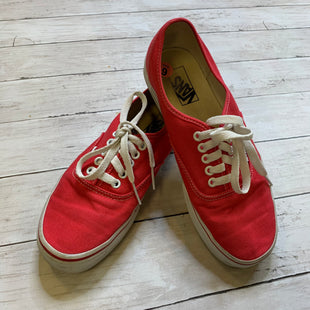 Primary Photo - BRAND: VANS STYLE: SHOES FLATS COLOR: RED SIZE: 9 SKU: 176-176114-35060