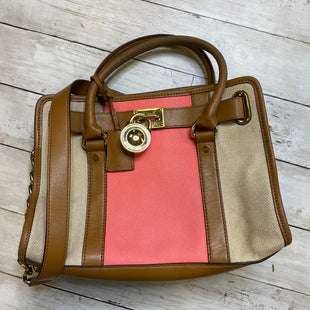 Primary Photo - BRAND: MICHAEL KORS STYLE: HANDBAG DESIGNER COLOR: TAN SIZE: MEDIUM SKU: 176-176150-3036
