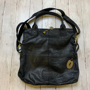 Primary Photo - BRAND: FOSSIL STYLE: HANDBAG LEATHER COLOR: BLACK SIZE: MEDIUM SKU: 176-176114-34963