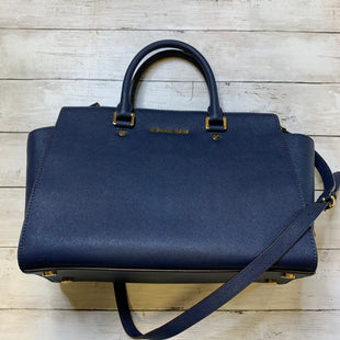 Primary Photo - BRAND: MICHAEL KORS STYLE: HANDBAG DESIGNER COLOR: NAVY SIZE: MEDIUM SKU: 176-176114-36510
